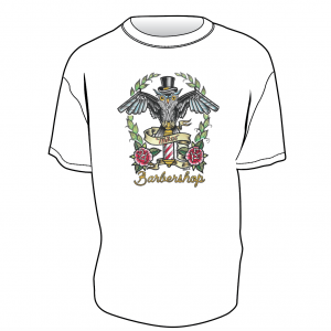 Mike's Barber Shop Opie Ortiz Owl T-Shirt